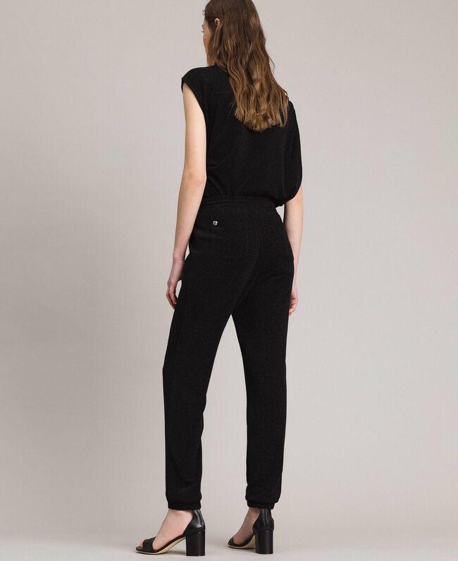 Jersey lurex jogging trousers Black Woman 191MP2026-04