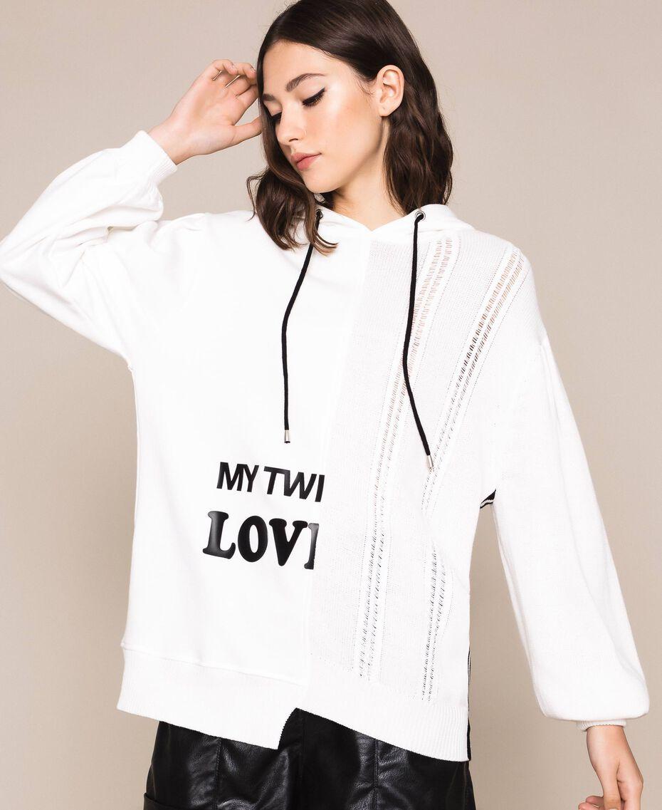 Maxi pull avec logo Lys Femme 201MP3210-01
