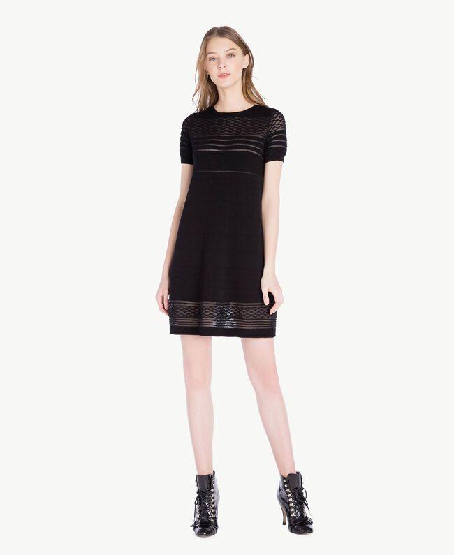 Viscose dress Black Woman PS8362-01