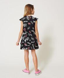 Kleid mit Allover-Logoprint Graffiti-Print Schwarz Kind 211GJ2127-04