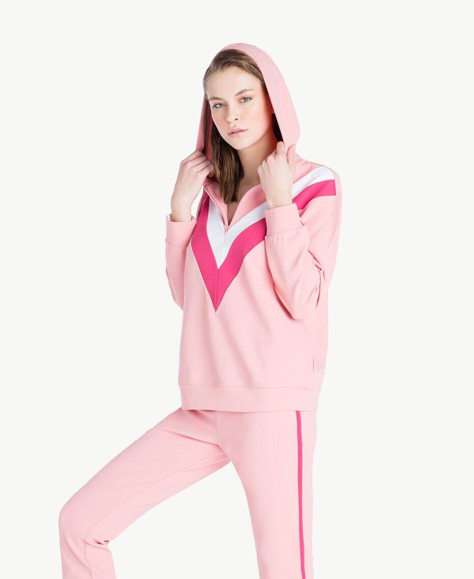 Sweatshirt aus Scuba Pinkie Sugar Frau LS82BB-03