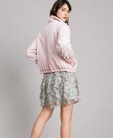 Padded denim jacket Pink Pearl Woman 191TP2340-03