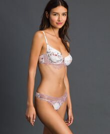 Floral underwire bra with lace Ivory Floral Print Woman 192LI6555-02