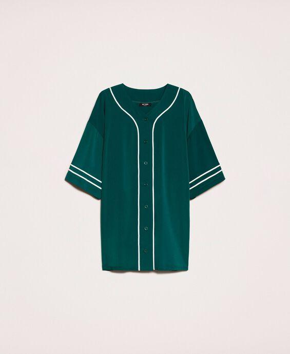 Maxi chemise en crêpe de Chine