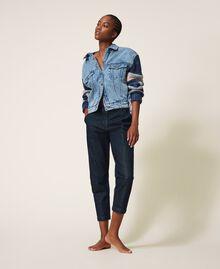 Tapered fit jeans Dark Denim Woman 202MP2071-04