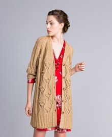 Maxi cardigan effetto mélange Camel Donna PA8372-01