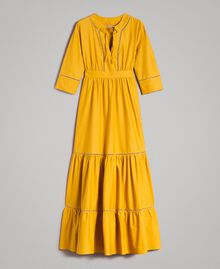 "Poplin long dress with hemstitch ""Honey Gold"" Woman 191TT2241-0S"