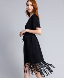 Envers satin dress Black Woman QA8TGQ-02