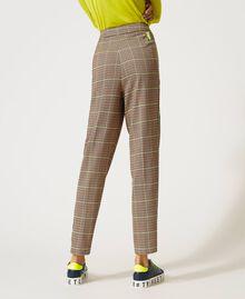 Pantalon en pied-de-poule Jacquard «Pied-de-poule» Camel Femme 202LI2MMM-03