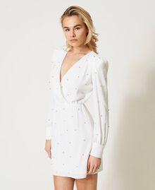 Платье с шатонами Слоновая кость женщина 211LM21EE-03