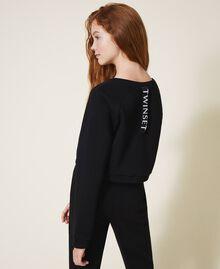 Cropped sweatshirt with print Black Child 202GJ2811-04