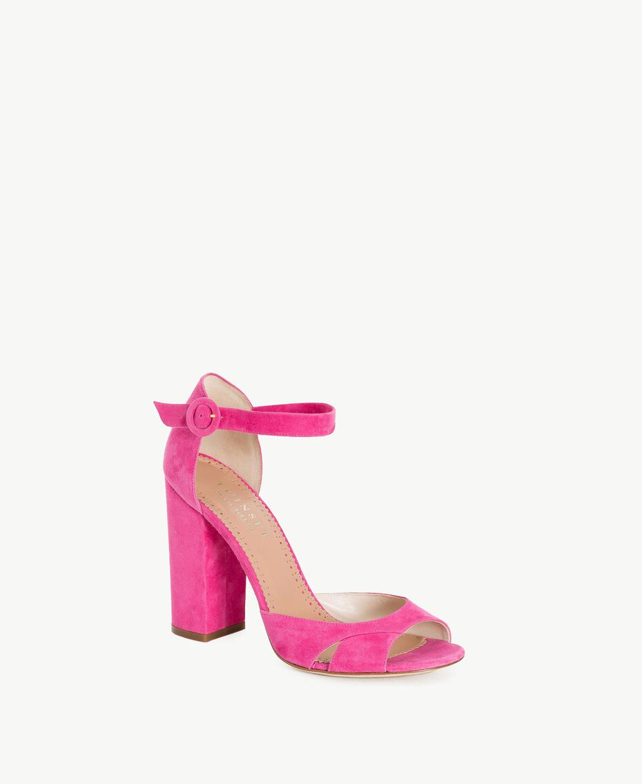 TWINSET Suede sandals Provocateur Pink Woman CS8TDU-02