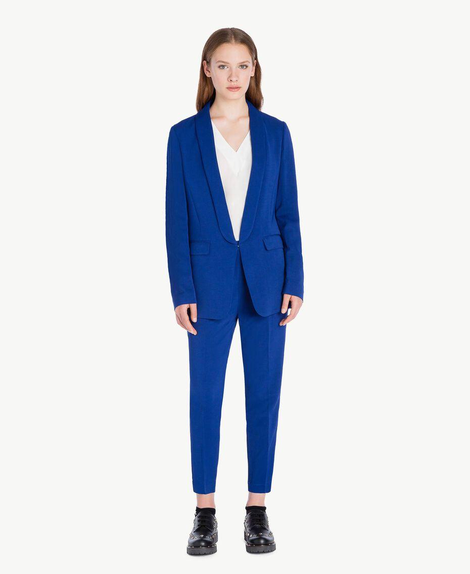 Pantalon cigarette slouchy Bleu Bleuprint Femelle PA72TA-02