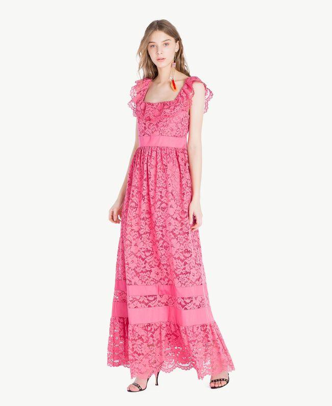 Robe longue dentelle Pink Provocateur Femme TS828N-01