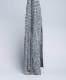 Écharpe torsadée avec strass Gris moyen chiné Femme OA8T6C-01