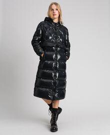 Doudoune longue matelassée en plumes véritables Noir Femme 192TP2501-02