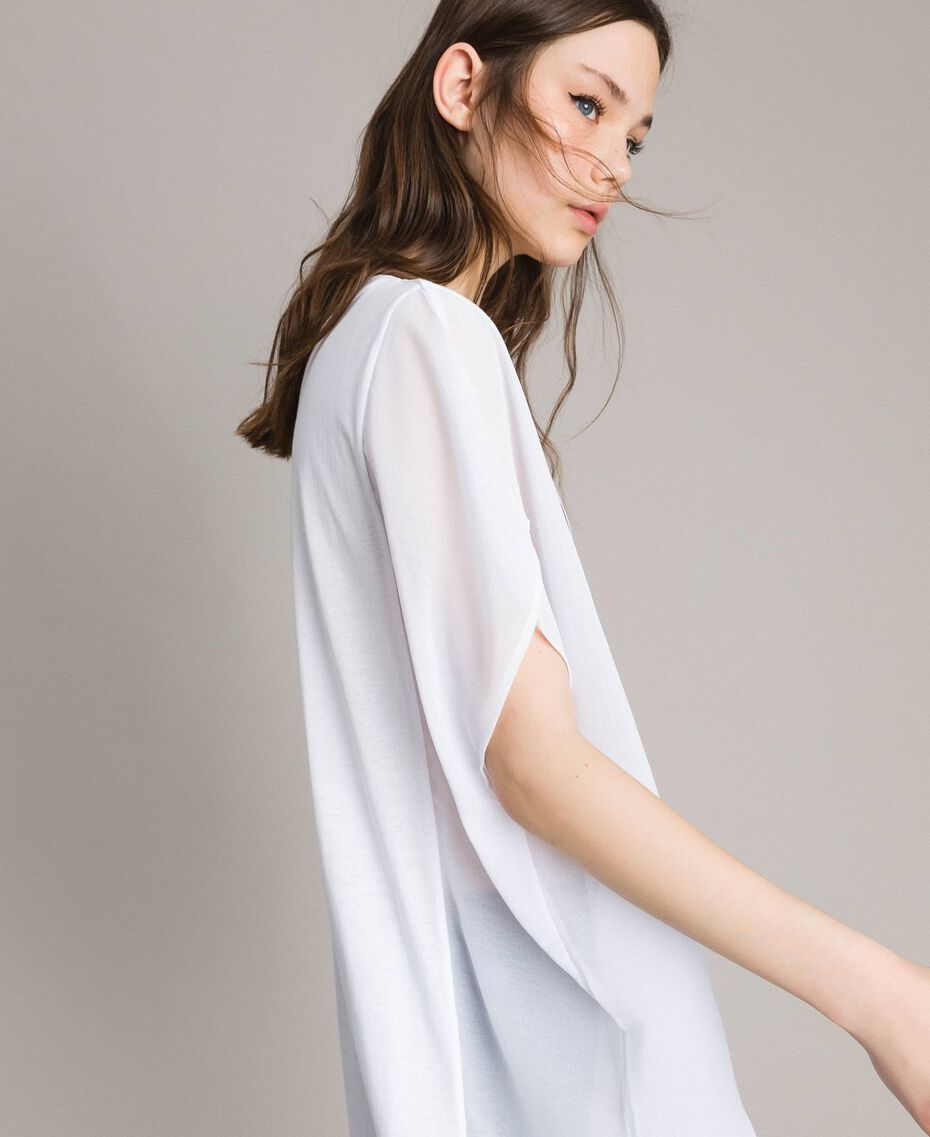 Maxi t-shirt avec imprimé et strass Noir Femme 191LB23KK-02