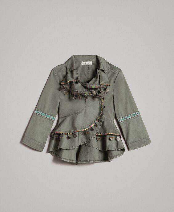 Cotton jacket with mini medals