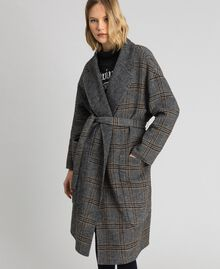 Patterned reversible coat Double Check Jacquard Woman 192TP2300-01