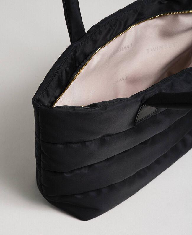 Sac cabas matelassé avec charms Noir Femme 192TO8060-05