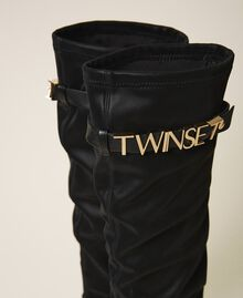 Trainer boots with logo Black Woman 202TCP038-04