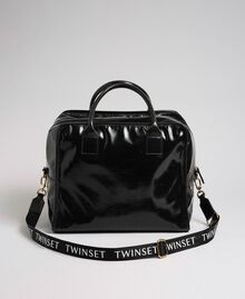 Sac week-end en similicuir brillant Noir Femme 192TA7172-02