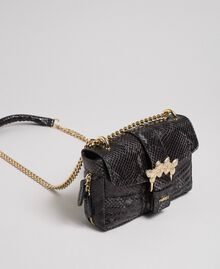 "Small Rebel shoulder bag with python print ""Anthracite"" Grey Python Print Woman 192TA7231-01"