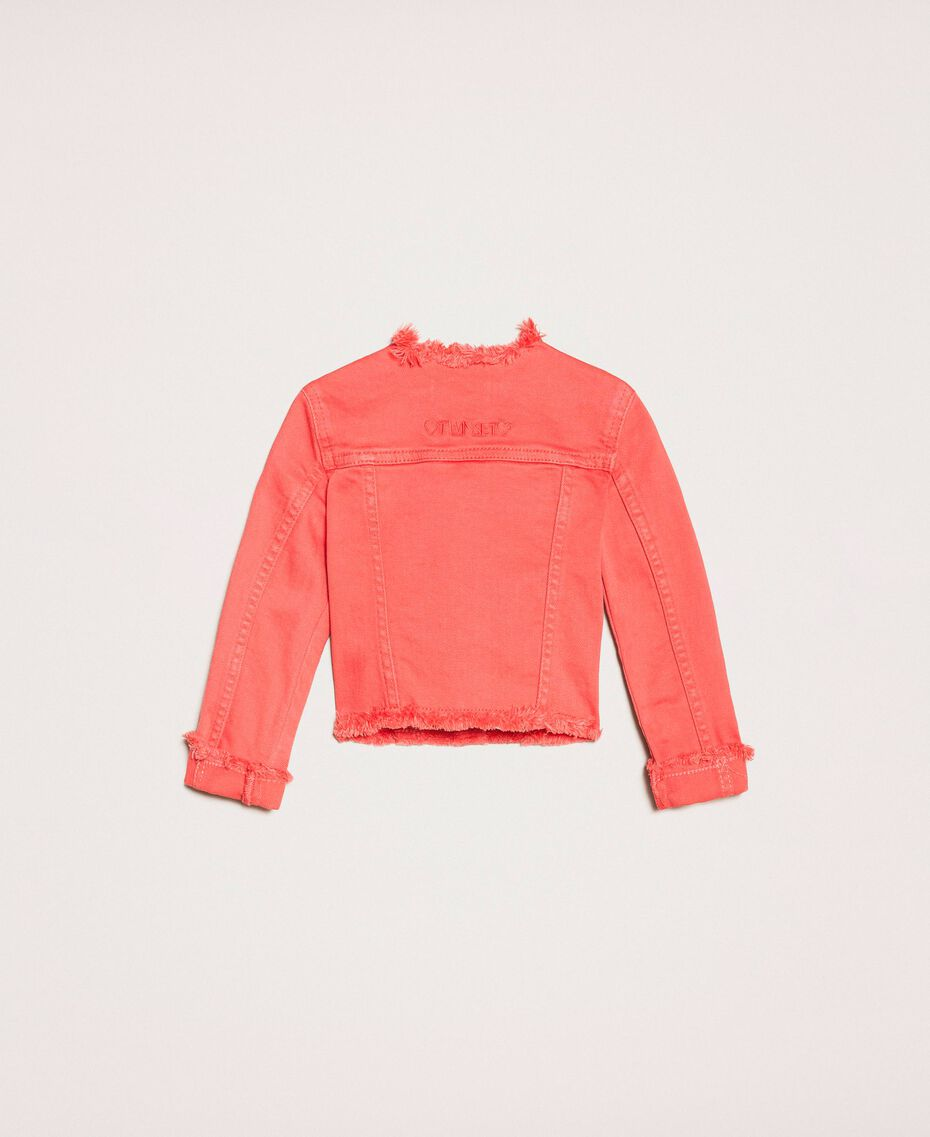 """Bull jacket with fringed trim """"Calypso Coral"""" Red Child 201GB2032-0S"""