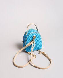 Butterfly print mini backpack Mikonos Light Blue Butterflies Print Woman 191TA7176-04