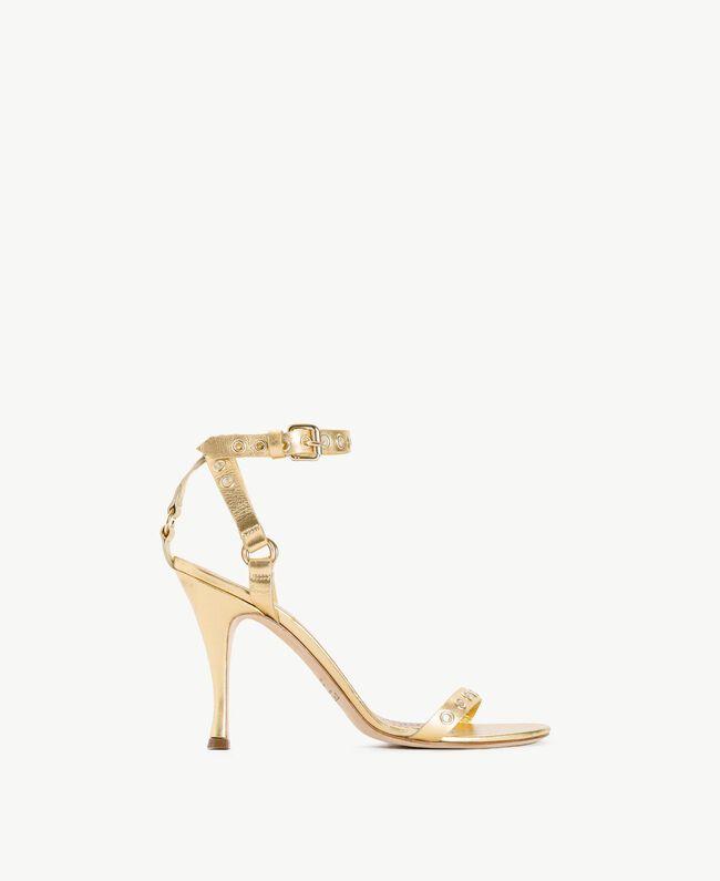 TWINSET Laminated sandals Platinum Woman CS8TAE-01