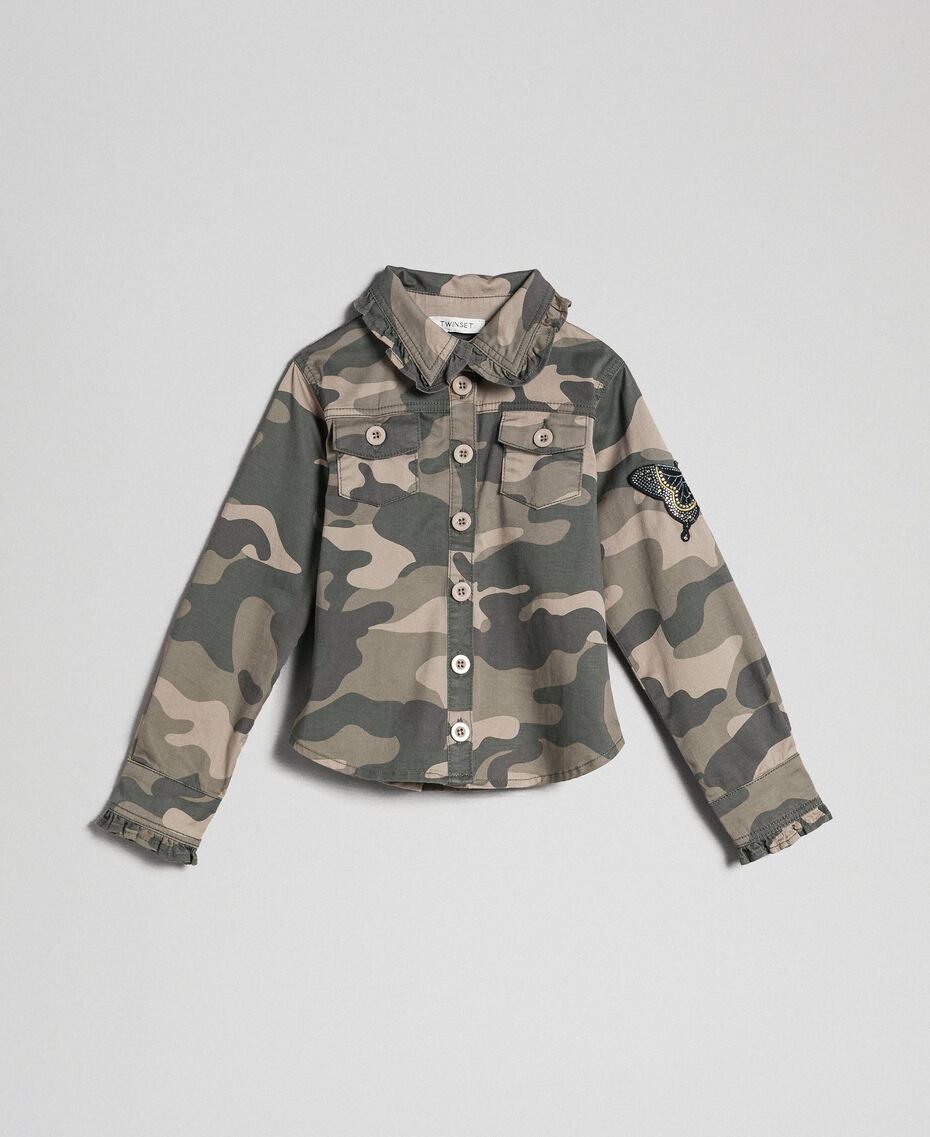 Camouflage print shirt Camouflage Print Child 192GJ2160-0S