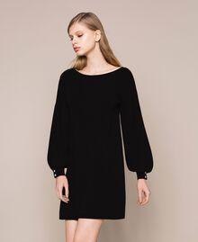 Robe décorée de boutons en strass Noir Femme 201TP3101-01