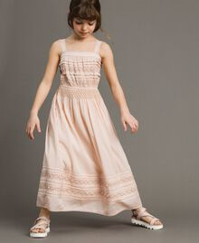 Long dress with embroideries Blossom Pink Child 191GJ2353-0S