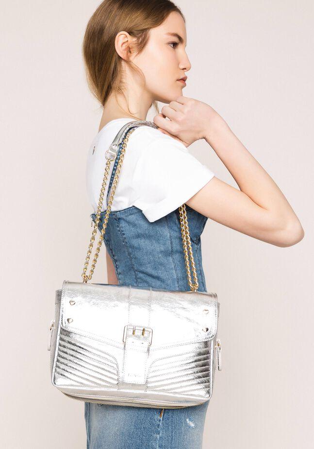 Medium Rebel leather shoulder bag
