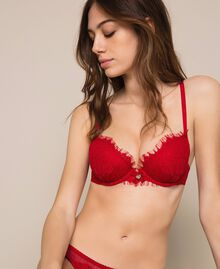 Push-up in pizzo Rosso Melograno Donna 201LL6244-01