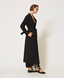 Floaty trench coat with belt Black Woman 202TP204A-02