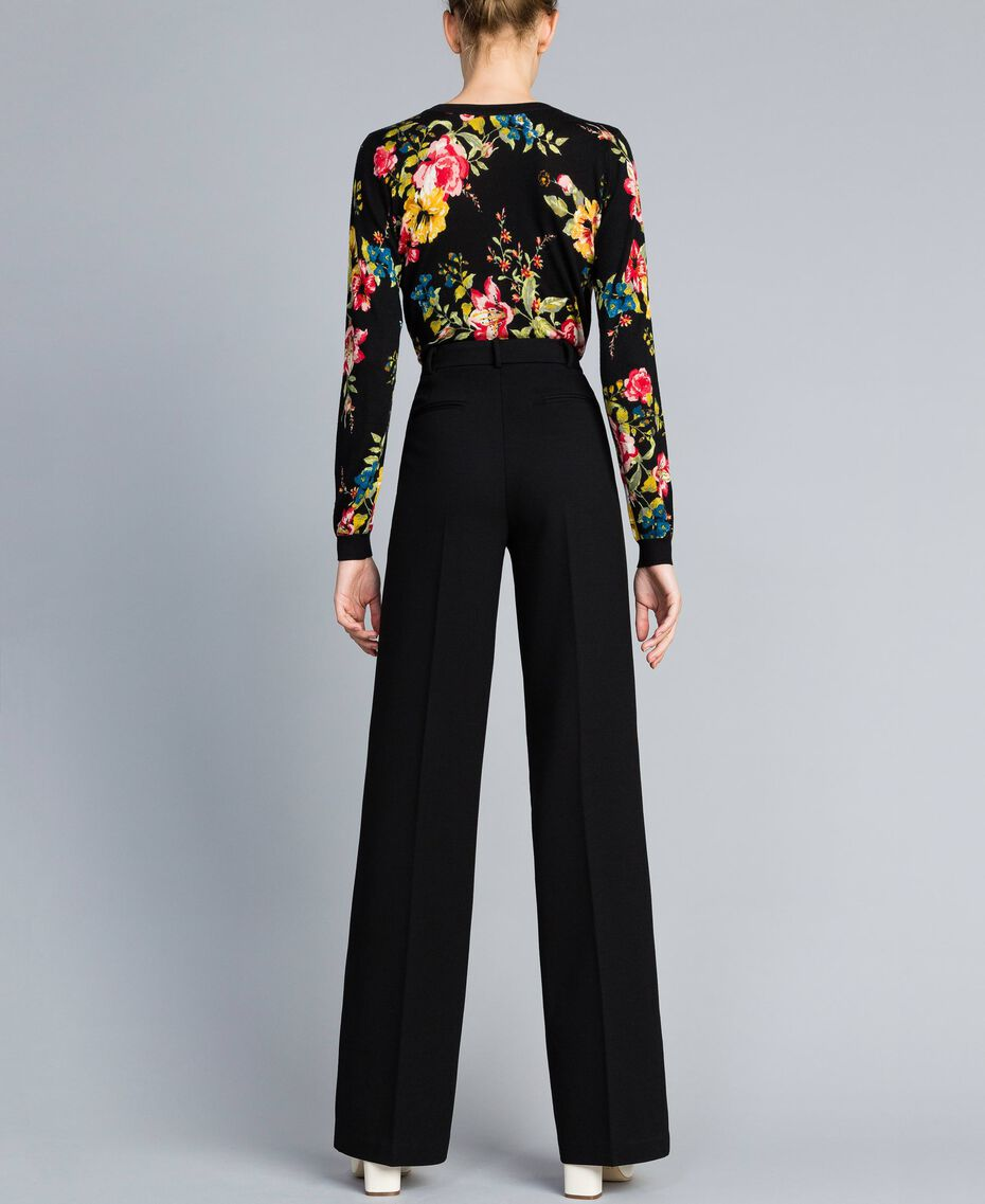 Milan stitch trousers Black Woman PA8218-02