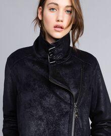 Faux shearling jacket Black / Black Woman JA82G1-01