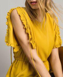 """Bluse mit Rüschen aus Seidenmischung """"Honey Gold"""" Frau 191TT2071-01"""