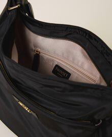 Technical satin hobo bag Black Woman 202TD8080-04