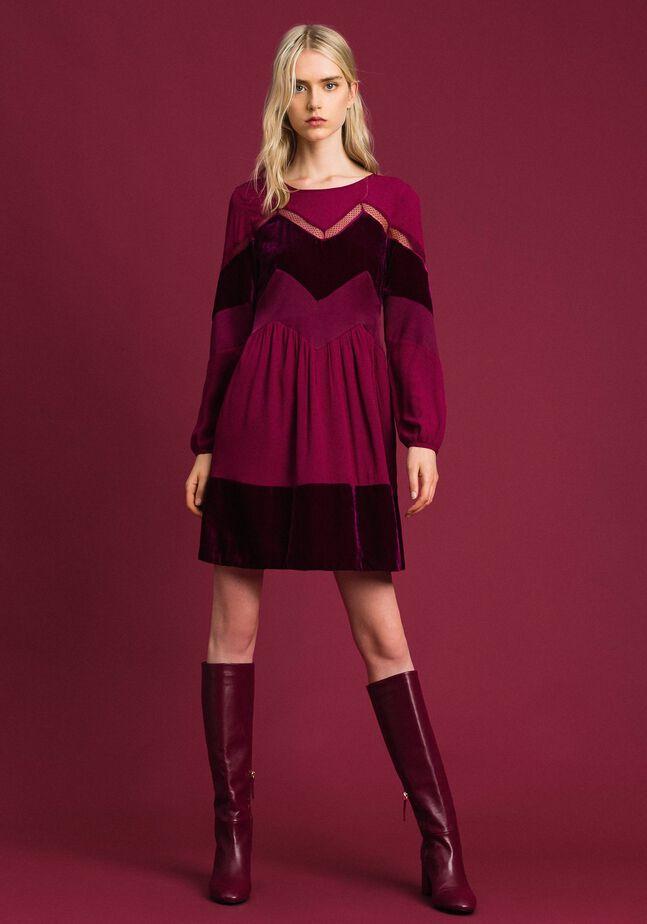 Kleid mit Samtdetails