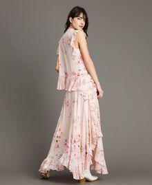 "Georgette-Bluse mit Blumenmuster Motiv ""Blossom / Peach Mix"" Pink Frau 191TP2711-03"