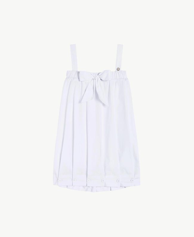 "Robe popeline Blanc ""Papers"" Enfant GS82QN-01"