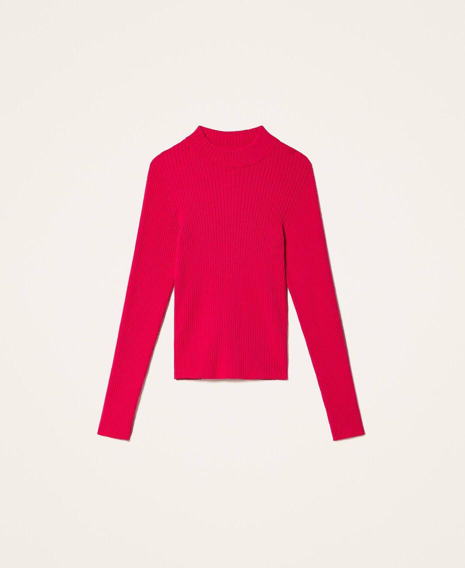 Gerippter Stehkragenpullover Pink Gloss Kind 202GJ3690-0S