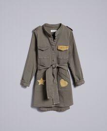 Hemdblusenkleid aus Baumwolle mit Stern Olive Kind GA827R-01
