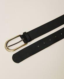 Cintura con fibbia arrotondata Nero Donna 212AA4012-03