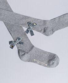 Stretch cotton tights Light Gray Mélange Child GA8ABC-01