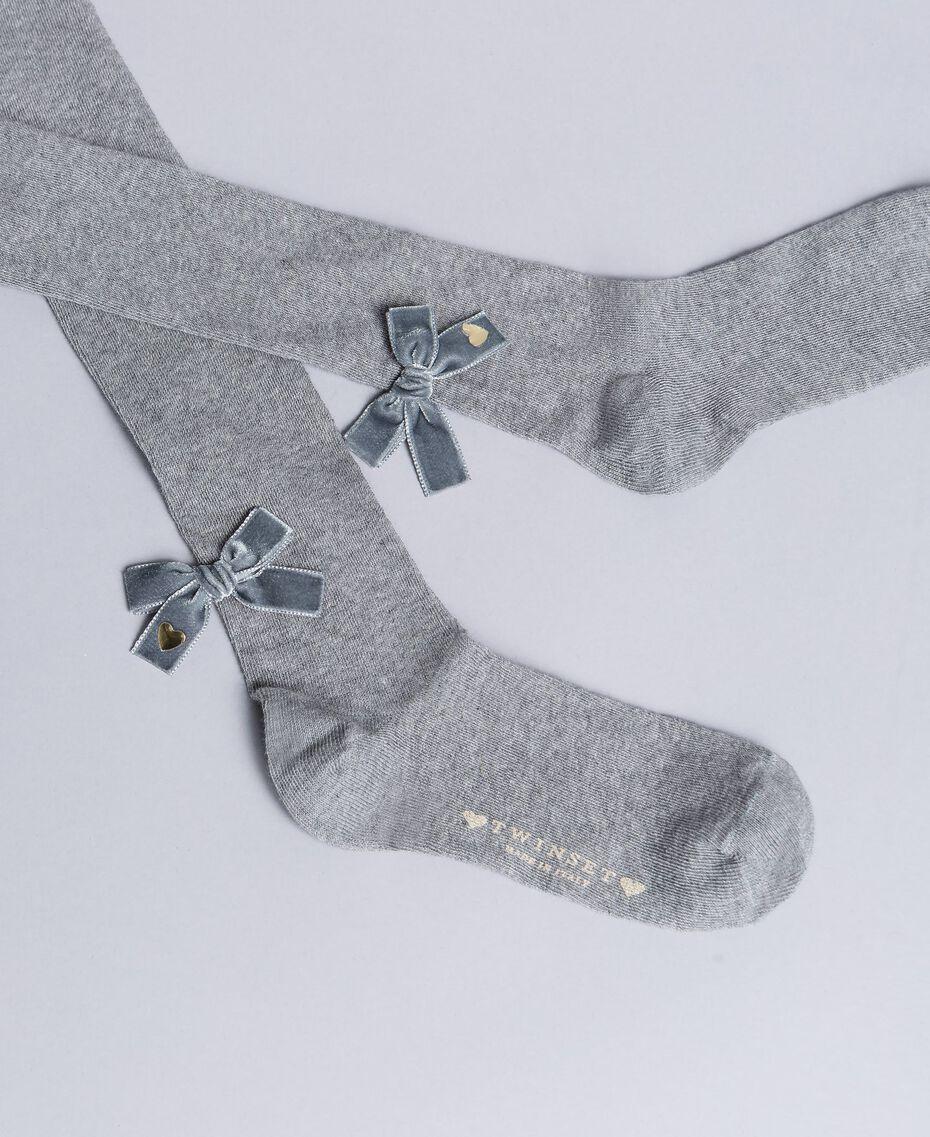 Collants en coton stretch Gris clair chiné Enfant GA8ABC-01
