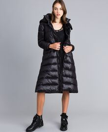 Long nylon padded jacket Black Woman YA82AB-02