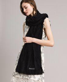 Écharpe en coton Noir Femme 191TA436A-0S
